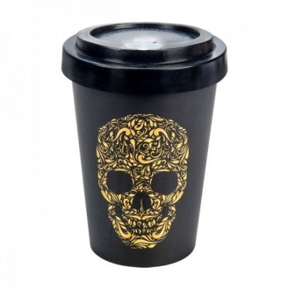 BAMBOO CUP - SKULL BLACK