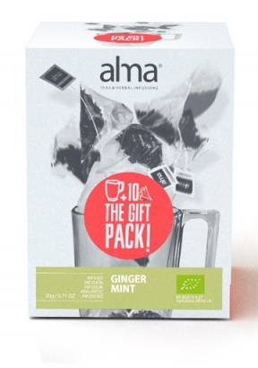 GINGER MINT INFUSION + TAZZA ALMA COLLECTION